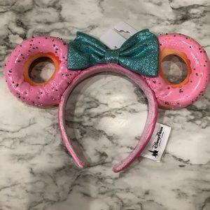 New Disney Minnie Mouse Donut Ears Headband